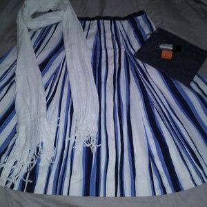 Talbots Size 10 Cotton Flare Skirt + Bonuses
